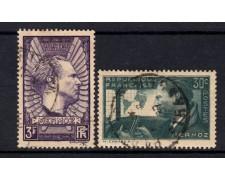 1937 - FRANCIA - LOTTO/15446 - AVIATORE   J. MERMOZ 2v. - USATI