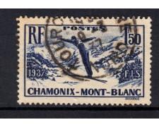1937 - FRANCIA - LOTTO/15447 - CAMPIONATO DI SCI - USATO