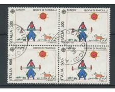 1989 - LOTTO/15484 - REPUBBLICA - 500 LIRE EUROPA  - QUARTINA USATI