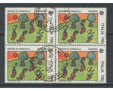 1989 - LOTTO/15485 - REPUBBLICA - 750 LIRE EUROPA - QUARTINA USATI
