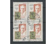 1994 - LOTTO/15491 - REPUBBLICA - 850 LIRE EUROPA - QUARTINA USATI