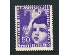 1937 - LOTTO/15507 - REGNO - 50c. COLONIE ESTIVE - LING.