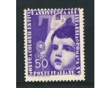 1937 - LOTTO/15507 - REGNO - 50c. COLONIE ESTIVE - LING.