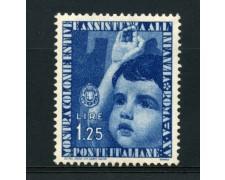 1937 - LOTTO/15509 - REGNO - 1,25 Lire COLONIE ESTIVE - LING.