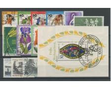 1976 - LOTTO/15521 - BERLINO - ANNATA COMPLETA 16 VALORI + FOGLIETTO - USATI