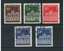 1966 - LOTTO/15523 - BERLINO - PORTA DI BRANDEBURGO 5v. - USATI