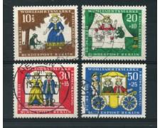 1966 - LOTTO/15524 - BERLINO - BENEFICENZA FAVOLE 4v. - USATI