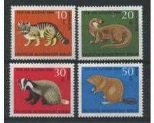 1968 - LOTTO/15528 - BERLINO -  PRO GIOVENTU' ANIMALI 4v. - NUOVI