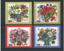 1974 - LOTTO/15573 - BERLINO - BENEFICENZA FIORI 4v. - NUOVI