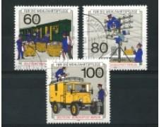 1990 - LOTTO/15757U - BERLINO - STORIA DELLA POSTA 3v. - USATI