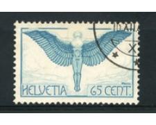 1924/36 - LOTTO/15843 - SVIZZERA - 65c. POSTA AEREA - USATO
