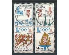1978 - LOTTO/16886 - BELGIO - PREOLIMPICA 4v. - USATI