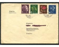 1948 - LOTTO/15889 - SVIZZERA - PRO JUVENTUTE  4v. - BUSTA