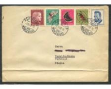1953 - LOTTO/15894 - SVIZZERA -  PRO JUVENTUTE 5v. BUSTA