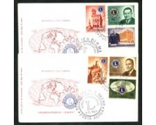 1960 - LOTTO/15906 - SAN MARINO - LION'S CLUB 6v. - 2 BUSTE FDC