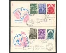 1960 - LOTTO/16013 - VATICANO -  RIFUGIATO - 2 BUSTE FDC