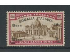 1925 - LOTTO/16045 - SOMALIA - 18b.+9b. ANNO SANTO - LING.