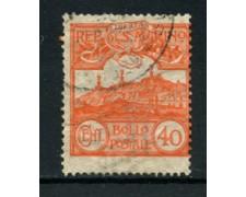 1903 - LOTTO/16058 - SAN MARINO - 40c. VERMIGLIO - USATO