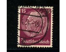 1932/33 - LOTTO/16165 - GERMANIA - 15p. LILLA HINDENBURG - USATO