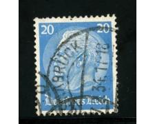 1932/33 - LOTTO/16166 - GERMANIA - 20p. AZZURRO - HINDENBURG - USATO