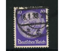 1932/33 - LOTTO/16168 - GERMANIA - 40p. VIOLETTO  HINDENBURG - USATO