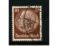 1932/33 - LOTTO/16170 - GERMANIA - 50p. CASTANO HINDENBURG - USATO