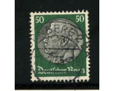 1932/33 - LOTTO/16171 - GERMANIA - 50p. VERDE E NERO HINDENBURG - USATO