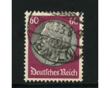1932/33 - LOTTO/16172 - GERMANIA - 60p. LILLA NERO HINDENBURG - USATO