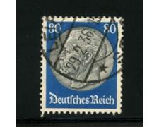 1932/33 - LOTTO/16173 - GERMANIA - 80p. VERDE  NERO HINDENBURG - USATO