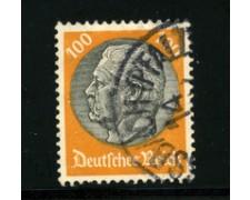 1932/33 - LOTTO/16174 - GERMANIA - 100p. GIALLO HINDENBURG - USATO