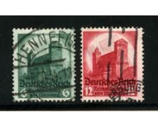 1934 - LOTTO/16184 - GERMANIA -  CONGRESSO DI NORIMBERGA 2v. - USATI