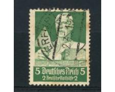 1934 - LOTTO/16187 - GERMANIA - 5+2p. SOCCORSO INVERNALE - USATO