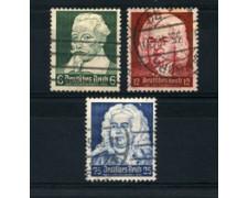 1935 - LOTTO/16196 - GERMANIA - COMPOSITORI TEDESCHI 3v. - USATI