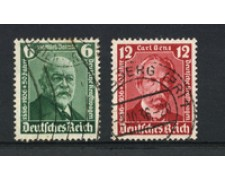 1936 - LOTTO/16211 - GERMANIA - CINQUANTENARIO AUTO 2v. -  USATI