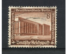1936 - LOTTO/16214 - GERMANIA - 8+4p. SOCCORSO INVERNALE - USATO