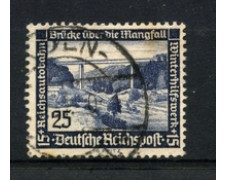 1936 - LOTTO/16216 - GERMANIA - 25+15p. SOCCORSO INVERNALE - USATO