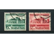 1938 - LOTTO/16218 - GERMANIA - TEATRO SAARBRUCKEN 2v. - USATI