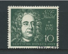 1959 - LOTTO/16251 - GERMANIA FEDERALE - 10p.  GEORG HANDEL - USATO