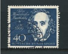 1959 - LOTTO/16253 - GERMANIA FEDERALE - 40p. MENDELSSOHN - USATO