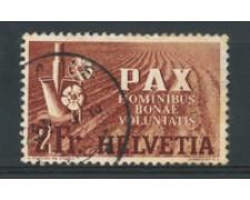 1945 - LOTTO/16295 - SVIZZERA - 2 FRANCHI  PAX - USATO