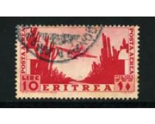 1936 - LOTTO/16299 - ERITREA - 10 LIRE POSTA AEREA - USATO