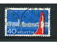 1953 - LOTTO/16317 - SVIZZERA - 40 CENT. AEROPORTO ZURIGO - USATO