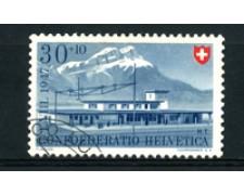 1947 - LOTTO/16318 - SVIZZERA - 30+10c. PRO PATRIA - USATO
