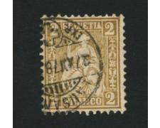 1867/78 - LOTTO/16321A - SVIZZERA - 2c.  BISTRO - USATO