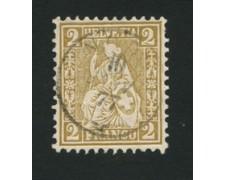 1867/78 - LOTTO/16321B - SVIZZERA - 2c.  BISTRO - USATO