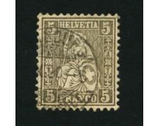 1862 - LOTTO/16322B - SVIZZERA - 5c. BRUNO - USATO