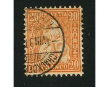 1862 - LOTTO/16324A - SVIZZERA - 20c. ARANCIO HELVETIA - USATO