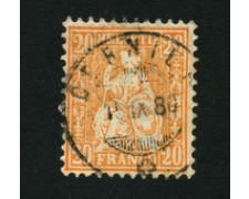 1862 - LOTTO/16324D - SVIZZERA - 20c. ARANCIO HELVETIA - USATO