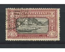 1923 - LOTTO/16346 - REGNO - 10c.  MANZONI - USATO  F.TO SORANI