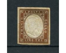 SARDEGNA - 1861 - LOTTO/16471 - 3 LIRE RAME - LINGUELLATO